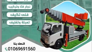صورة ونش رفع الاثاث فى المعادى |01069691560